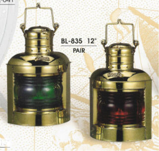 PORT AND STARBOARD 12.5 INCH LAMPS BL835