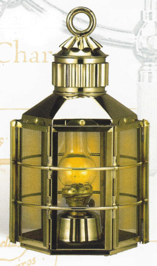 BRASS CLIPPER SHIP LANTERNS OIL OR ELECTRIC TOUCH CONTROL BL-838