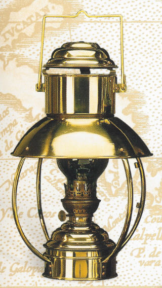 BRASS HANGING LAMP 16.5 inch X 10 inch Oil or Electric BL-839