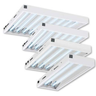 C.A.P. MAXLUME T5 4 FT FIXTURES WITH 4 BULBS #FL44B