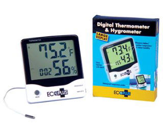 ECOPLUS LARGE DISPLAY THERMOMETER/HYGROMETER 716560-2
