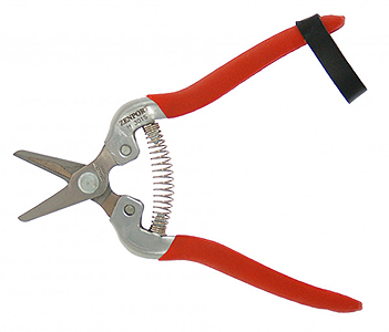 STAINLESS STEEL HARVEST SHEAR WITH SHORT STRAIGHT BLADE H301S