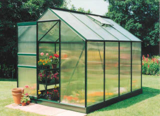 HALLS POPULAR POLYCARBONATE GREENHOUSES POP46PLY