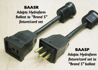 HYDROFARM ADAPTER FOR HYDRFARM BALLASTS TO SUN SYSTEM REFLECTORS BAASR