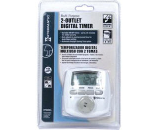 INTERMATIC DT620CL MULTI-PURPOSE 2 OUTLET DIGITAL TIMER #734046