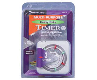 INTERMATIC TN311C HEAVY-DUTY PLUG-IN 120 VOLT TIMER 734015