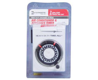 INTERMATIC HB112C HEAVY-DUTY PLUG-IN 240 VOLT TIMER 734020
