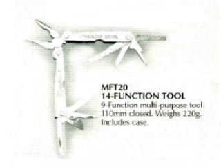 14 FUNTION MULTI TOOL MFT20