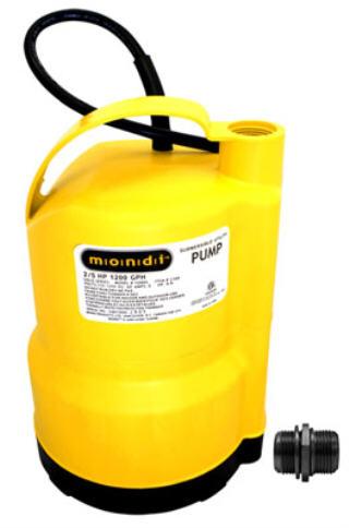 MONDI UTILITY SUMP PUMP 1200 GPH 727096