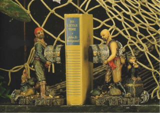 6 INCH POLYSTONE PIRATE BOOKENDS SET #PS-420