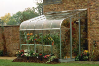HALLS SILVERLINE GLASS LEAN TO GREENHOUSE SL86