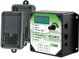 TITAN ATLAS 4 - 2 ROOM CO2 CONTROLLER ETL LISTED 702610