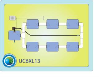 The Under Current™ XL13 System 6 CC6XL13