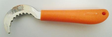 """ZENPORT K101-M 6.5"""" SERRATED MINI GRAPE HOOK KNIFE K101-M"""
